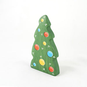 Christmas Tree with Balls - Wooden Handmade Figures