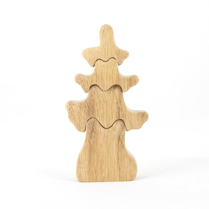 Nature Small Fir Tree - Wooden Handmade Montessori Open-ended Toy
