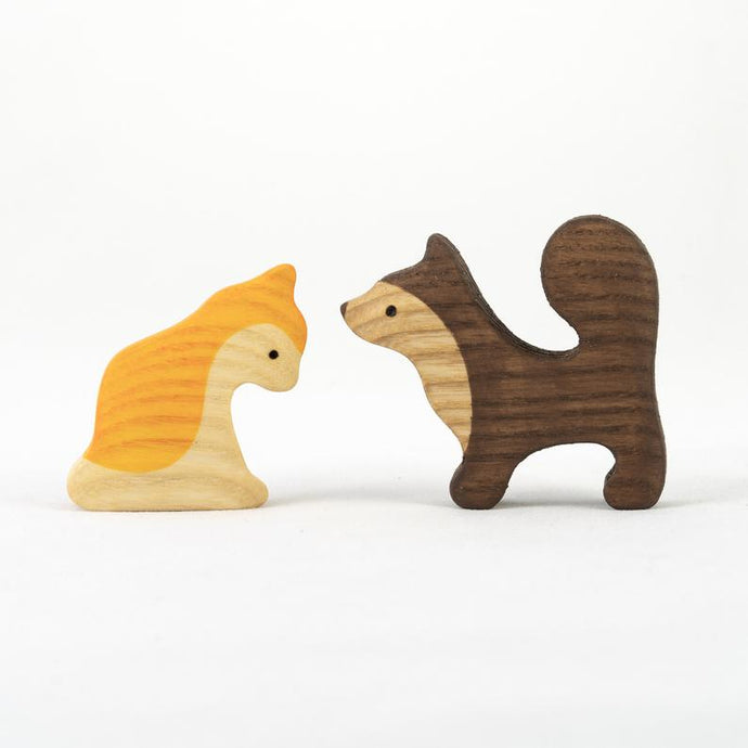 Dog and Cat - Wooden Handmade Montessori Open-ended Toy