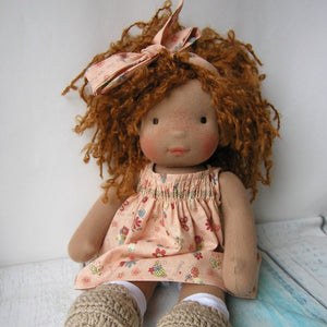 Tika Waldorf Girl Big Doll - Unique handmade toy