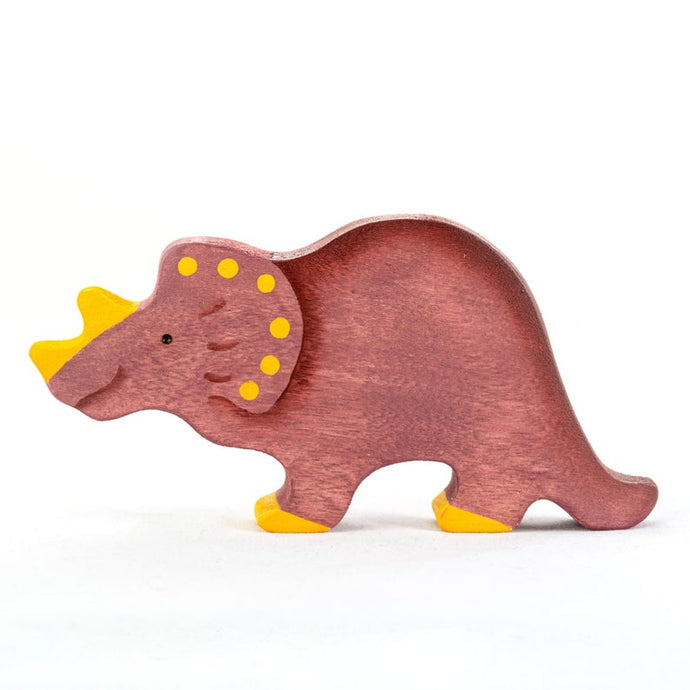 The Triceratops - Wooden Dinosaur Handmade Montessori Open-ended Toy