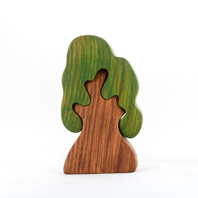 Spring Oak Tree - Handmade Montessori Open-ended Toy