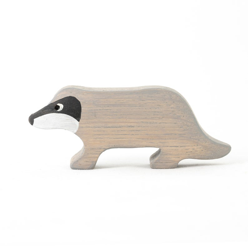 The Badger - Wooden Animal Handmade Montessori Open-ended Toy