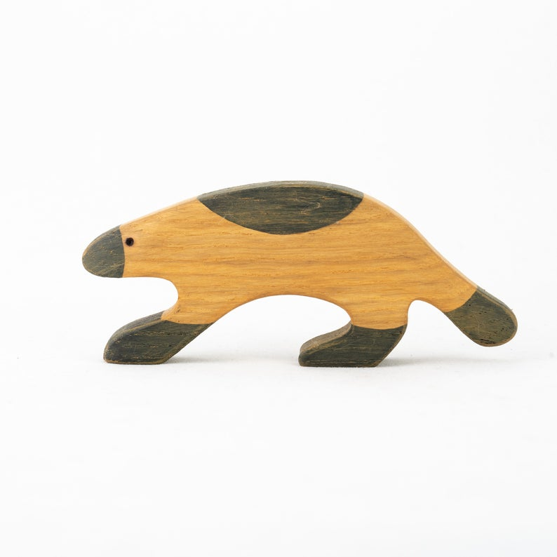 The Wolverine - Wooden Animal Handmade Montessori Open-ended Toy