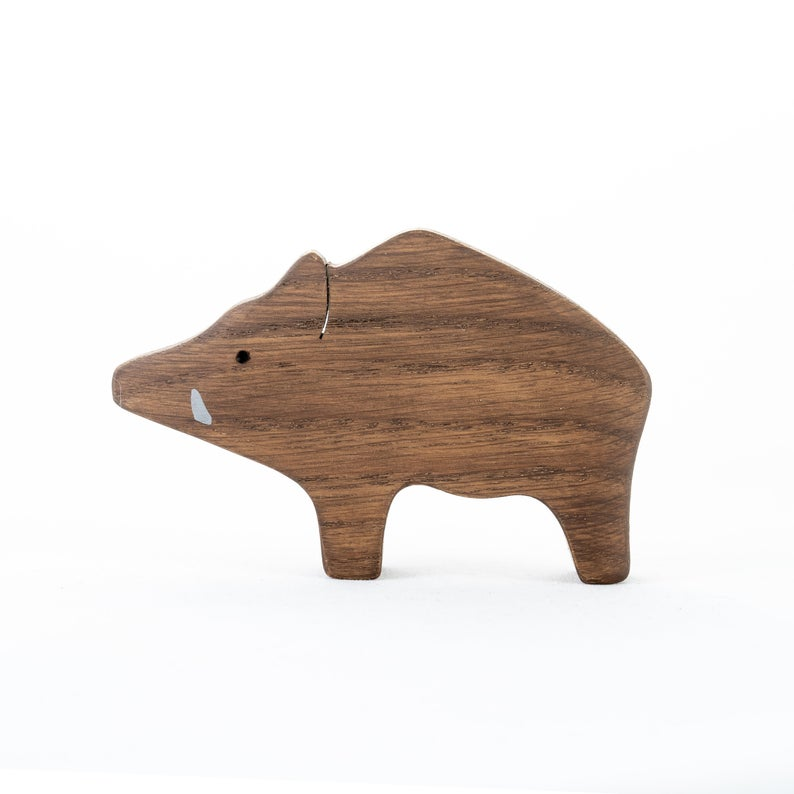 The Boar - Wooden Animal Handmade Montessori Open-ended Toy