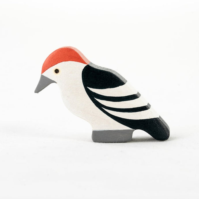 The Tiny Woodpecker - Wooden Bird  Handmade Montessori Open-ended Toy
