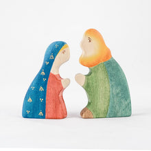 Load image into Gallery viewer, Holy Family Nativity Scene - Christmas Wooden Handmade Figures