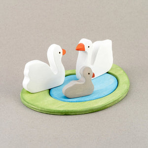 Swans Family - Wooden Handmade Montessori Open-ended Toy