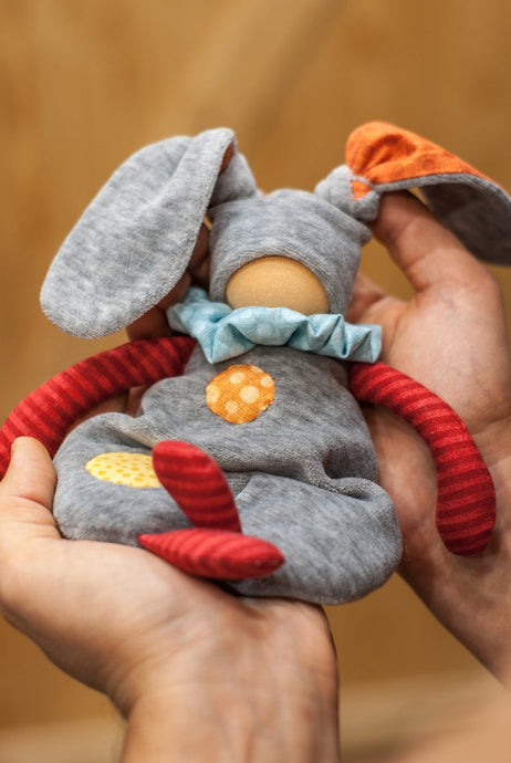 Bunny Waldorf First Doll - Unique handmade toy