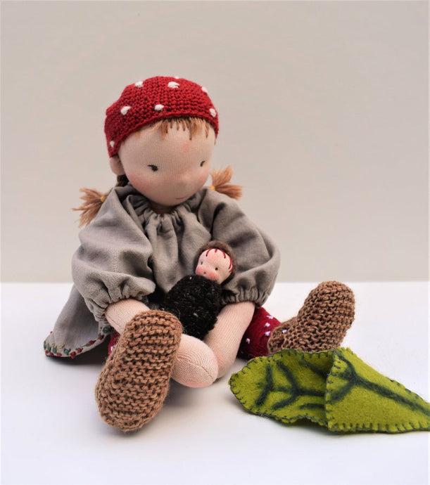 Gundel Waldorf Big Doll - Gnome Set -  Handmade Unique Toy - OOAK