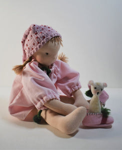 Gundel Waldorf Big Doll - Good Night Set -  Handmade Unique Toy - OOAK