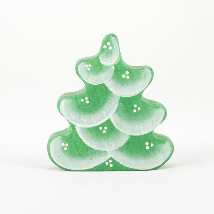 Winter Small Fir Tree - Wooden Handmade Montessori Open-ended Toy