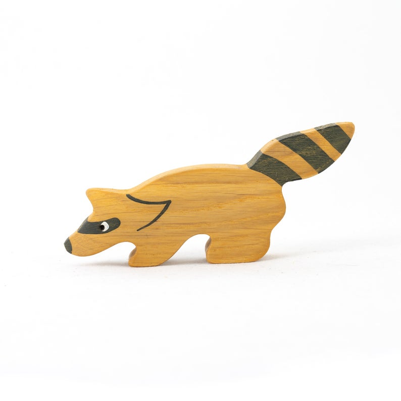 The Raccoon - Wooden Animal Handmade Montessori Open-ended Toy