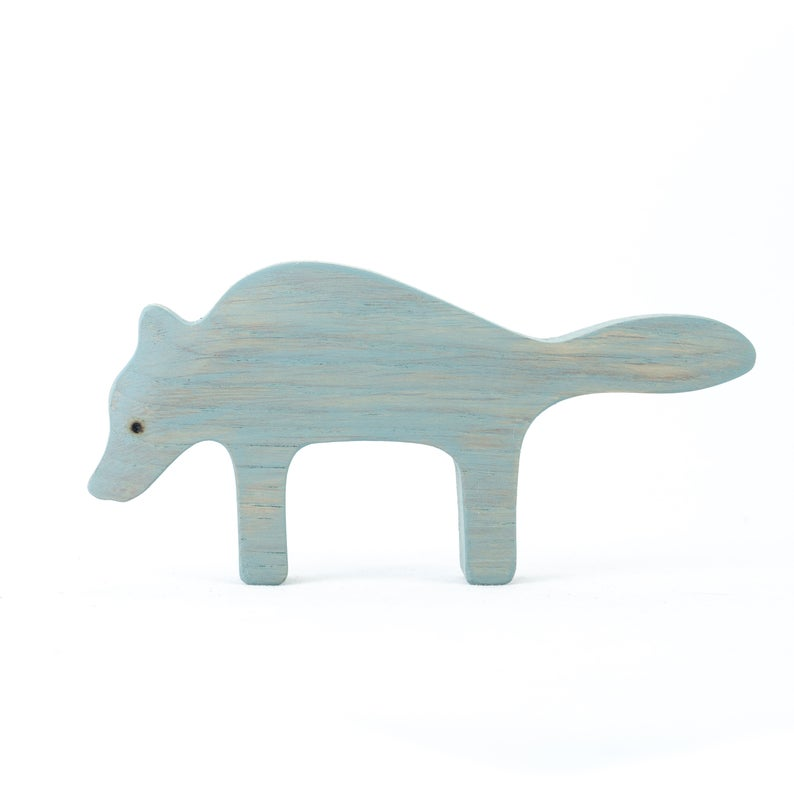 The Wolf - Wooden Animal Handmade Montessori Open-ended Toy