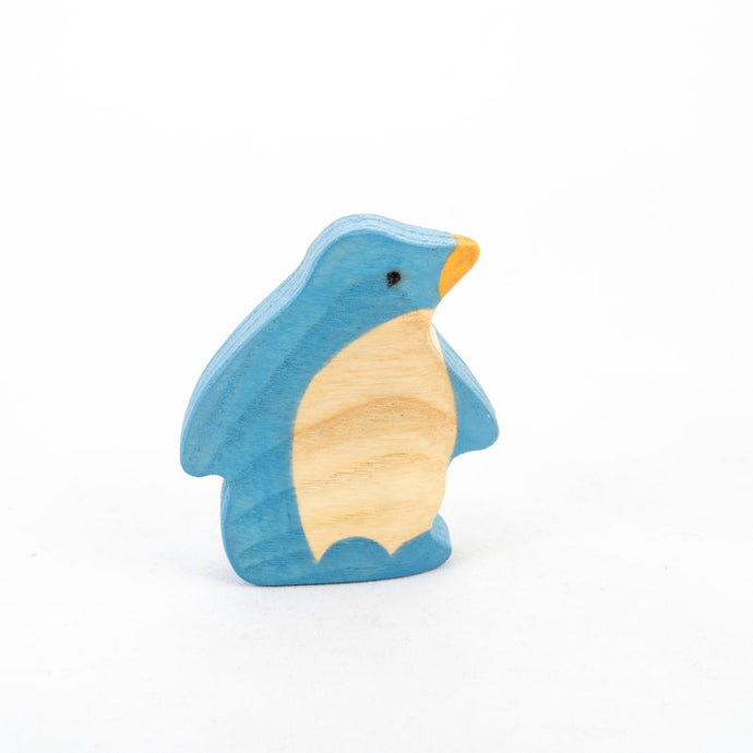 The Side View Penguin - Wooden Polar Animal Handmade Open-ended Toy