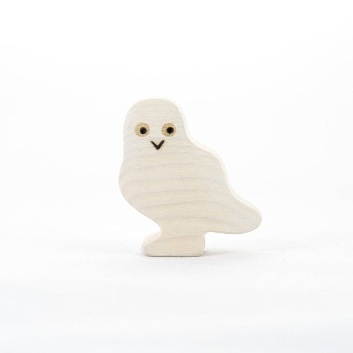 The Polar Owl - Wooden Animal Handmade Montessori  Open-ended Toy