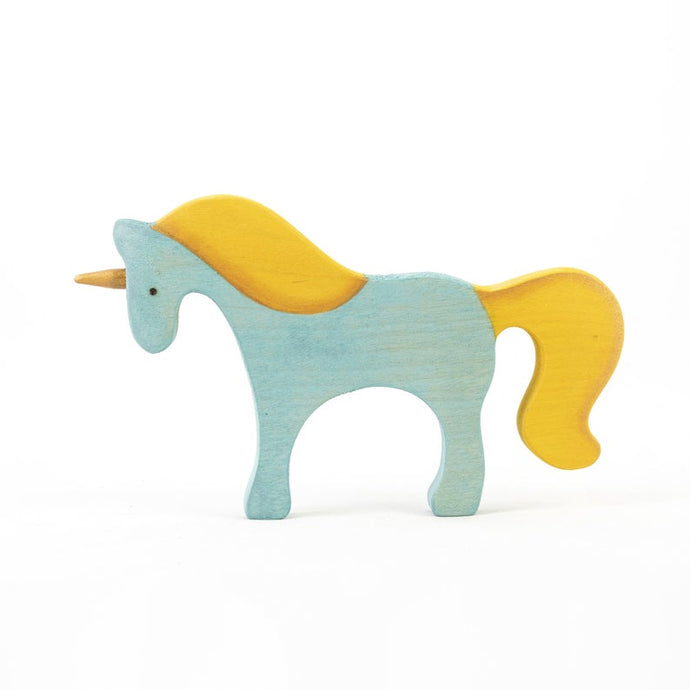 Yellow-Maned Unicorn - Wooden Handmade Open-ended Toy