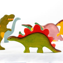 Load image into Gallery viewer, Dinosaurs Big Set - Wooden Handmade Montessori Open-ended Toy