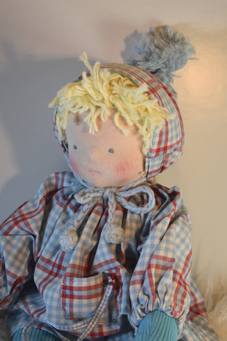 Piet Waldorf Big Doll OOAK - Unique handmade toy