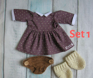 Mila Waldorf Girl Big Doll - Unique handmade toy - Clothes Set 1