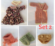 Load image into Gallery viewer, Mila Waldorf Girl Big Doll - Unique handmade toy - Clothes Set 2