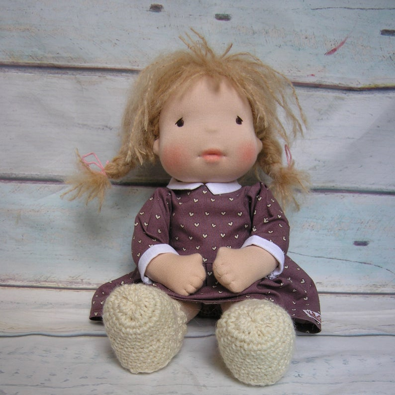 Mila Waldorf Girl Big Doll - Unique handmade toy