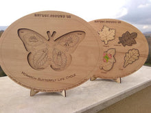 Load image into Gallery viewer, Butterfly Life Cycle Puzzle - Montessori Learning by Playing Materials