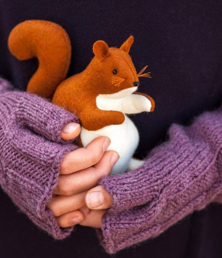 Squirrel Waldorf Stuffed Animal - Unique handmade toy