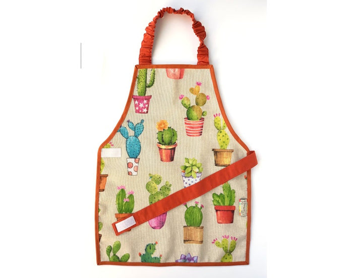 Orange Montessori Cactus Apron - Support Children´s Independence