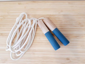 Blue Jump Rope - Handmade Waldorf Montessori Active Play Materials