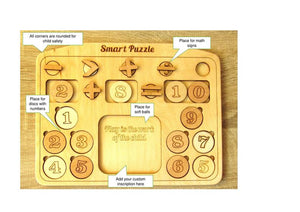 Math Puzzle - Handmade Mathematics Learning by Playing Materials