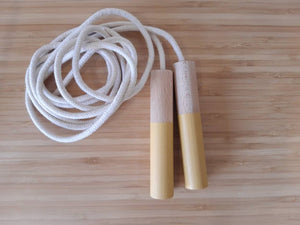 Ocher Jump Rope - Handmade Waldorf Montessori Active Play Materials