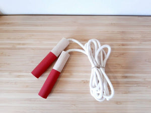Red Jump Rope - Handmade Waldorf Montessori Active Play Materials
