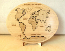 Load image into Gallery viewer, World Map Puzzle - Montessori Learning by Playing Materials