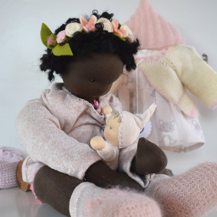 Lindiwe Waldorf Big Doll OOAK - Unique handmade toy