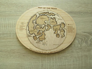Moon Map Puzzle - Montessori Learning by Playing Materials