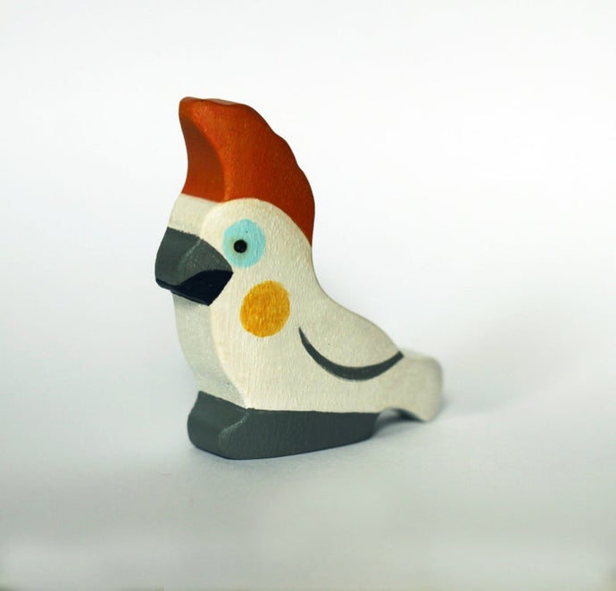 The Cockatoo Parrot - Wooden Bird Handmade Montessori Open-ended Toy