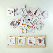 Charger l'image dans la galerie, Sequencing Puzzle - Handmade Montessori Learning by Playing Materials