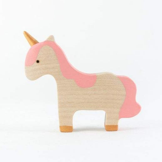 Pink-Maned Baby Unicorn - Wooden Handmade Open-ended Toy