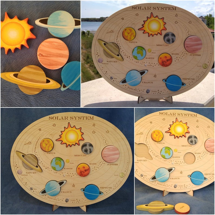 XXL Solar System Puzzle - Montessori Learning by Playing Materials