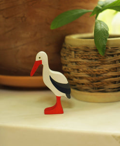 The Stork - Wooden Bird Handmade Montessori Open-ended Toy