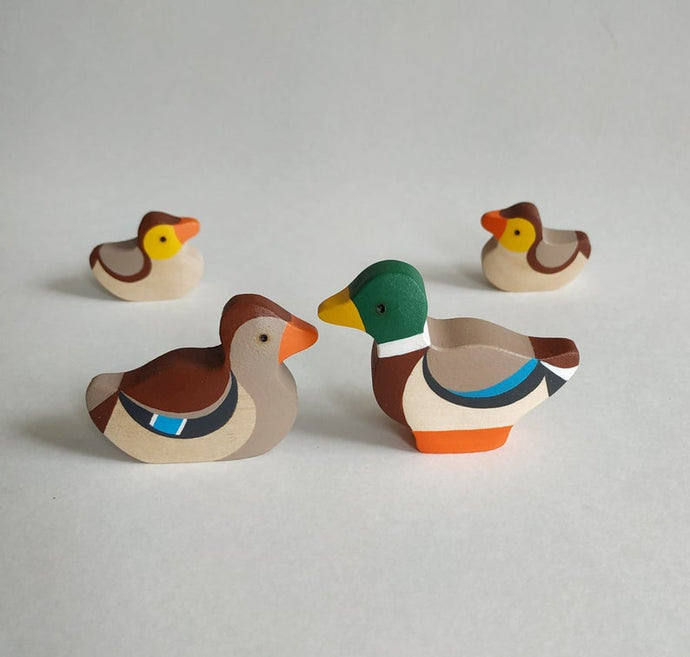 4 Ducks Family - Wooden Handmade Montessori Open-ended Toy