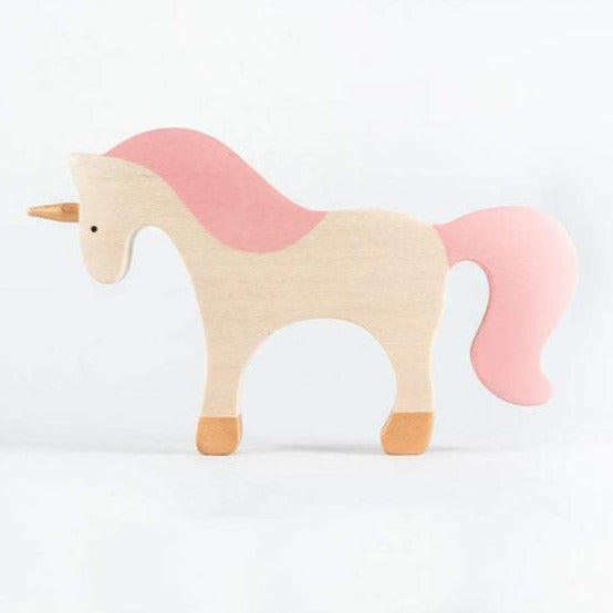 Pink-Maned Unicorn - Wooden Handmade Open-ended Toy