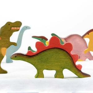 The Stegosaurus - Wooden Dinosaur Handmade Montessori Open-ended Toy