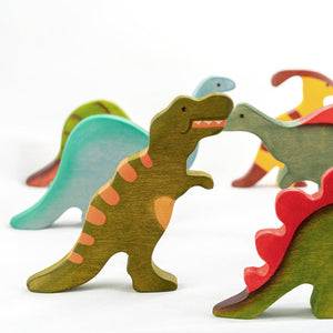 The T. Rex - Wooden Dinosaur Handmade Montessori Open-ended Toy