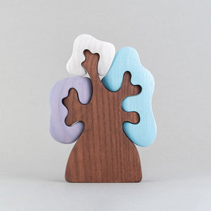 Winter Olive Tree - Wooden Handmade Montessori Open-ended Toy