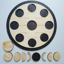 Load image into Gallery viewer, Moon Phases Puzzle and Calendar- Montessori Learning by Playing Materials
