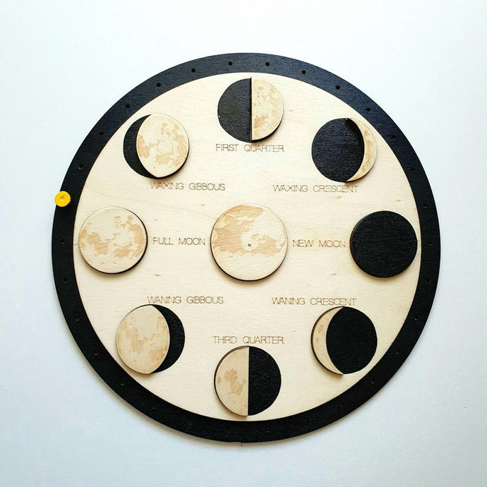 Moon Phases Puzzle and Calendar- Montessori Learning by Playing Materials