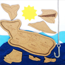 Load image into Gallery viewer, Anatomy of a Humpback Whale Puzzle - Montessori Learning by Playing Materials