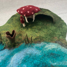 Load image into Gallery viewer, Mushroom House Playmat  - Handmade for Imaginative and Open-ended Play